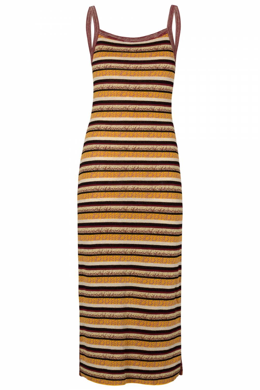Tube dress brown stripes