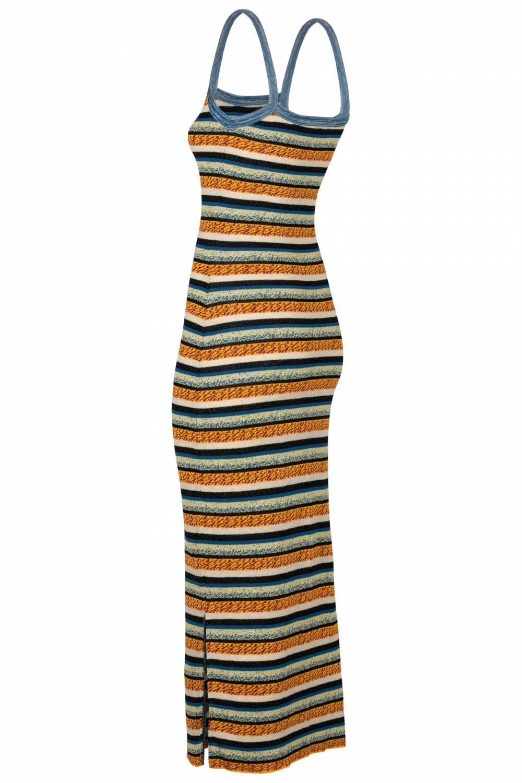 Tube dress blue stripes